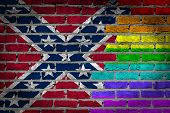 Dark Brick Wall - Lgbt Rights -