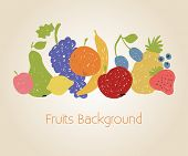 Doodle Fruits Background