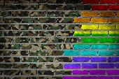 Dark Brick Wall - Lgbt Rights - Army Camouflage