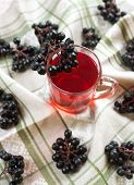 pic of chokeberry  - Compote of black chokeberry on the table