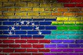 Dark Brick Wall - Lgbt Rights - Venezuela