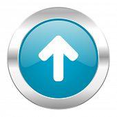 up arrow internet blue icon