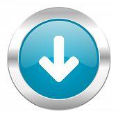 download arrow internet blue icon