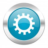 gear internet blue icon