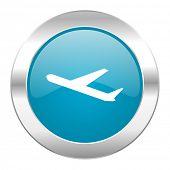 deparures internet blue icon