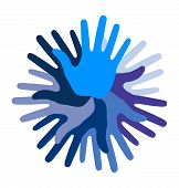 Blue Hand Print icon