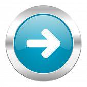 right arrow internet blue icon