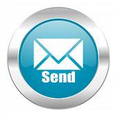 send internet blue icon