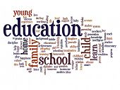 High resolution concept or conceptual education abstract word cloud on white background