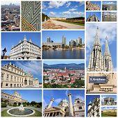 pic of schoenbrunn  - Photo collage from Vienna Austria - JPG