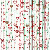Christmas Garlands With Hearts