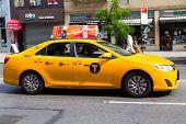 Bright Yellow New York Cab
