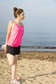 Fitness Woman Stretching Her Hips During Outdoor Workout