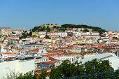 Lisbon skyline and Castle of Sao Jorge, Portugal