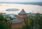 Evening Autumn Cruise On Volga River In Nizhny Novgorod