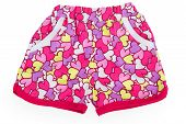 Baby Pink Cotton Shorts