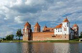 Belarus, Mir Castle, A Beautiful View From The Lake