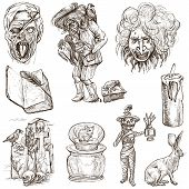 Halloween, Monsters, Magic - Hand Drawn Collection