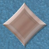 Diamond Shape Frame With Seamless Generated Texture