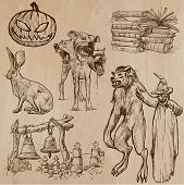Halloween, Monsters, Magic - Vector Collection
