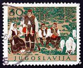 Postage Stamp Yugoslavia 1957 Croatian National Costume
