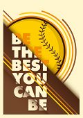 Baseball advertising poster design. Vector illustration.