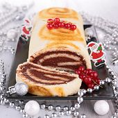 foto of yule  - swiss roll - JPG