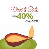 Sale, offer or discount posters for Hindu community festival Happy Diwali celebrations with illumina
