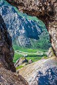 View From Sass Pordoi Peak In Dolomiti
