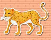 Illustraion of a leopard with background