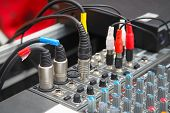 Detail Of A Sound Mixer