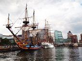 Tall Ships In Baltimore Inner Harbor
