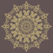 foto of frilly  - Orient vector ornamental round lace with damask and arabesque elements - JPG
