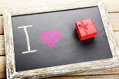 I love gifts written on chalkboard, close-up