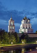 The Krom Or Kremlin In Pskov