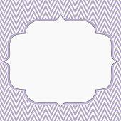 Purple And White Chevron Zigzag Frame Background