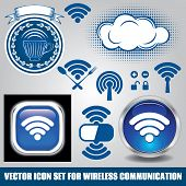 Set Of Different Icons For Technology Wifi