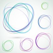Bright Colorful Circle Design Elements Set