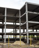 Concrete Framework Of The Future Building In The Construction Site