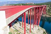 New Maslenica Bridge To The Island Of Pag (croatia)