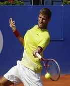BARCELONA - APRIL, 23: Slovakian tennis player Martin Klizan in action during a match of Barcelona t