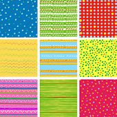 digital vector paper,  pattern set