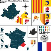 Map Of Provence-alpes-cote Dazur, France