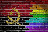 Dark Brick Wall - Lgbt Rights - Angola