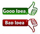 Good Bad Idea Thumb Up Down