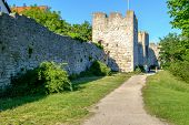 The medieval city wall in Visby
