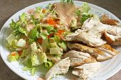 Chicken And Salad Diet Plate