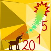 New Year 2015 congratulations card