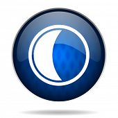 moon internet blue icon