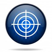 target internet blue icon
